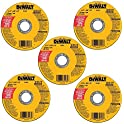 "5-Pack DeWalt 4-1/2"" Metal and Stainless Cutting Wheel"