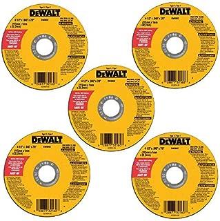 DEWALT Cutting Wheel, All Purpose, 4-1/2-Inch, 5-Pack (DW8062B5)