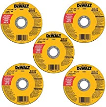 DEWALT Cutting Wheel, All Purpose, 4-1/2-Inch, 5-Pack (DW8062B5)