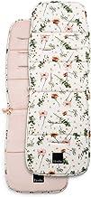 Elodie Details Colchoneta Universal para Silla de Paseo Reversible Acolchado Lavable CosyCushion - Meadow Blossom, Blanco/Rosa