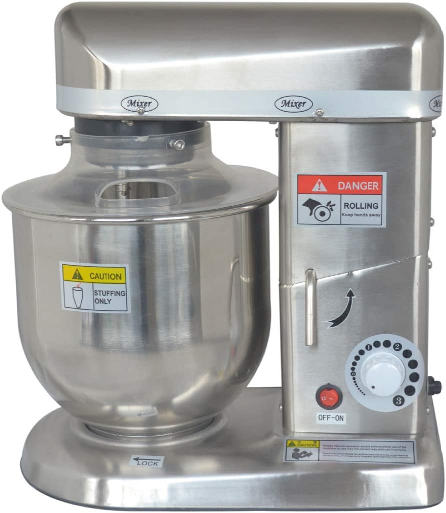 Huanyu Commercial Stand Al sold out. Mixer Flat Beater 5 popular Electric 3-Speeds 10QT