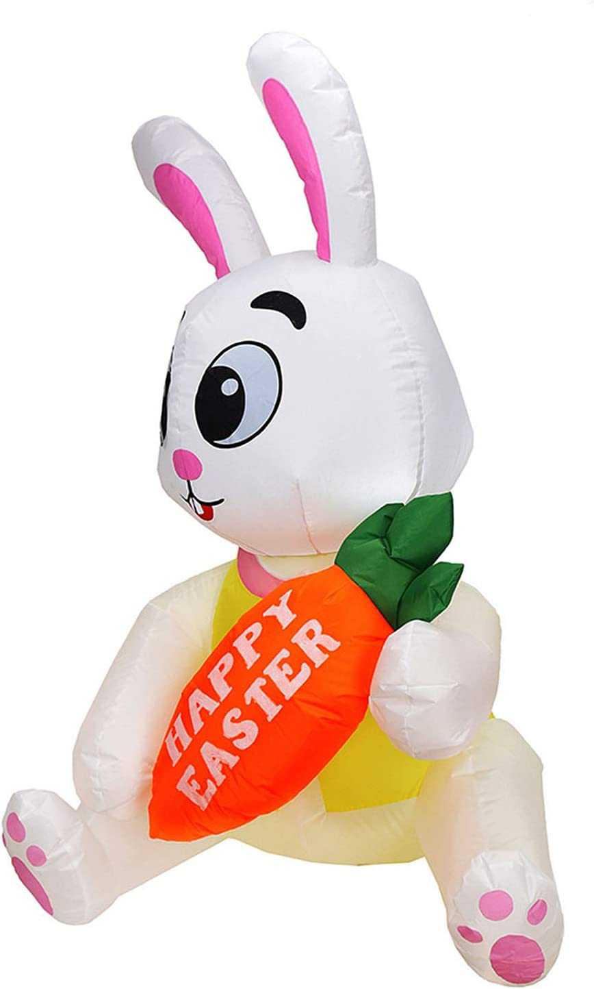 LAMF 5.2 Feet Easter Inflatables Bunny Blow Yard Rabbit depot up Purchase Lawn