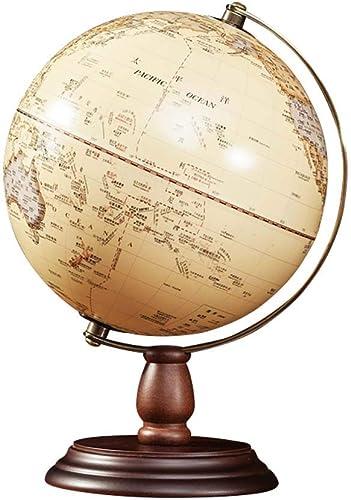 Antiker Globus mit Holzfu für Kinder Büro Deko Inneneinrichtung,20cm