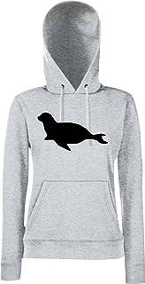 Unbekannt Lady Kapuzensweatshirt Tiermotiv Robbe, Seehund, Seelöwe