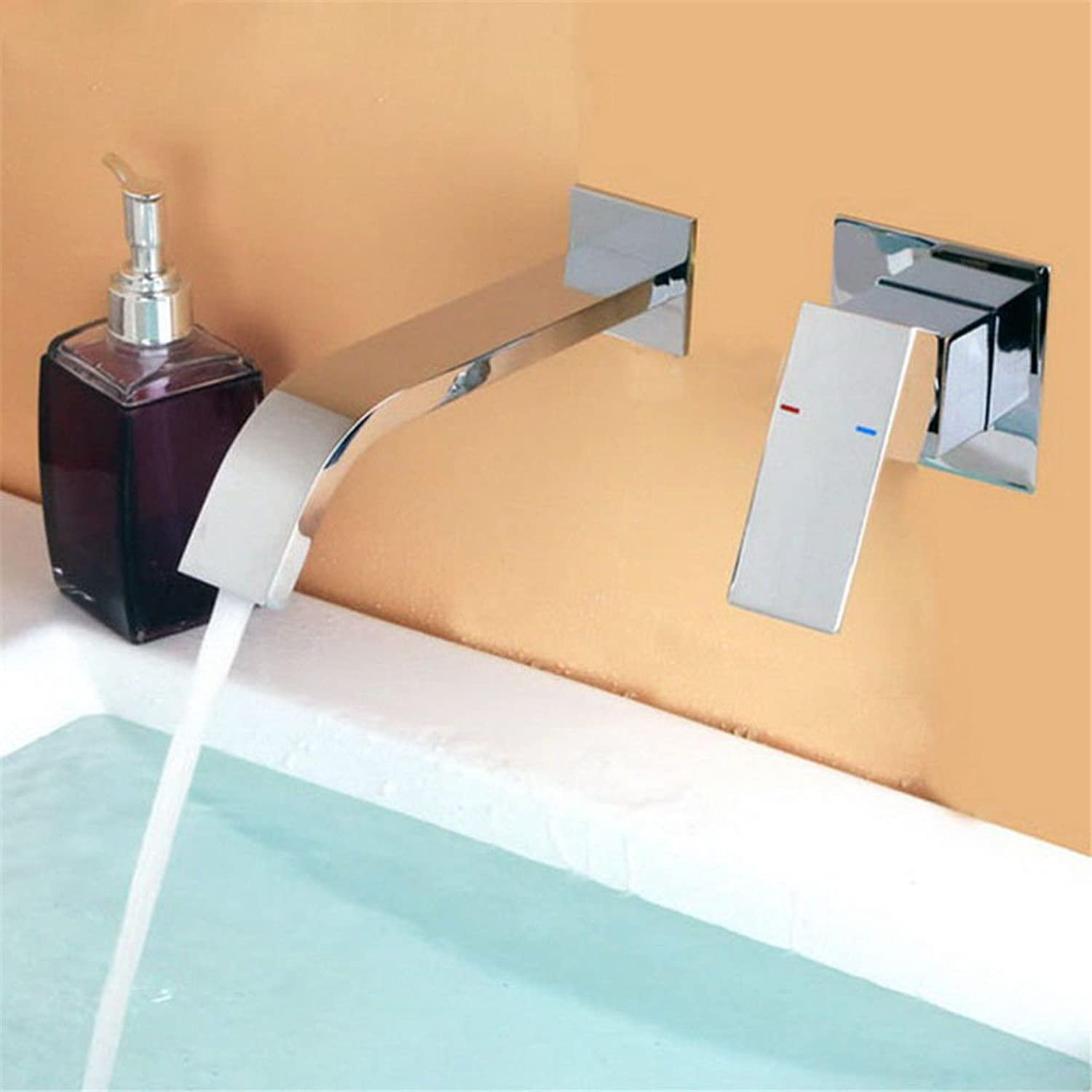 Hlluya Professional Sink Mixer Tap Kitchen Faucet Basin taps into the wall faucet full copper TAP-TAP-off Kai-type water taps single type water taps
