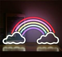 Ulalaza neonowy znak świetlny LED, lampka nocna w kształcie tęczy, zasilana, przez USB, dekoracyjny znak markizy, do baru,...