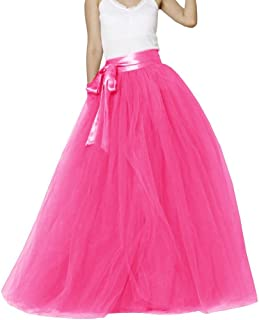 Womens Long Tutu Party Evening Tulle Skirt PC05