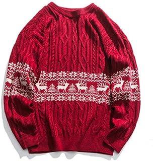 YANGPP Maglioni Lavorati A Maglia Uomo Donna Streetwear Maglione Natalizio Autunno Inverno Coppia Abbigliamento Casual Mag...