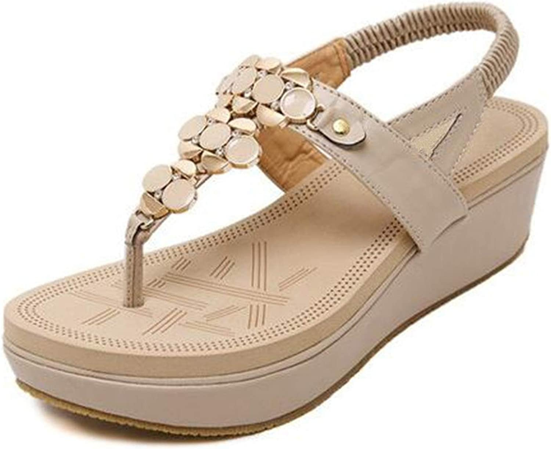 Heat-Tracing Women Summer Platform Flip Flops Casual Wedge Open Toes Bohemian Sandals Madeleine shoes