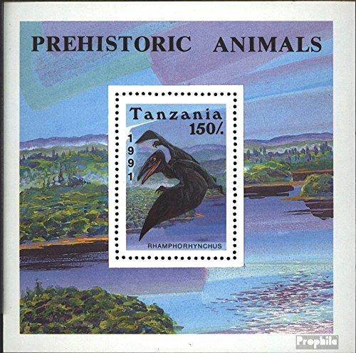 Tanzania Mi.-Aantal.: Block146 (compleet.Kwestie.) 1991 Prehistorische Dieren (Postzegels voor verzamelaars) vogels