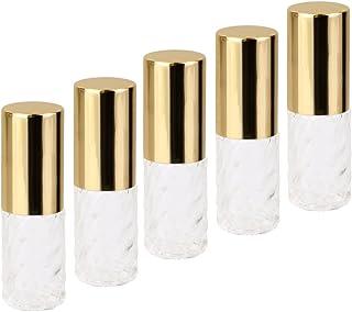 【ノーブランド 品】クリニーク 透明 交換 旅行 空 ロールオン ガラス 香水瓶 容器 男性 女性 5ml
