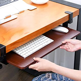 SKYZONAL Keyboard Tray Clamp-On Under Desk Ergonomic Wrist R