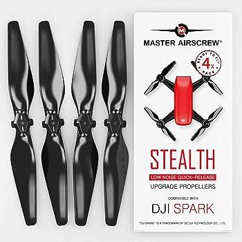 MAS Upgrade Propellers for DJI SPARK in Black - x4 in Set