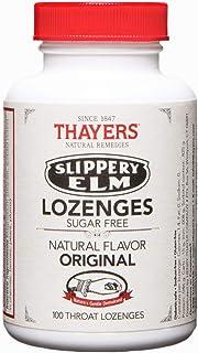 Thayers Sugar-Free Original Slippery Elm Lozenges, 100 Count