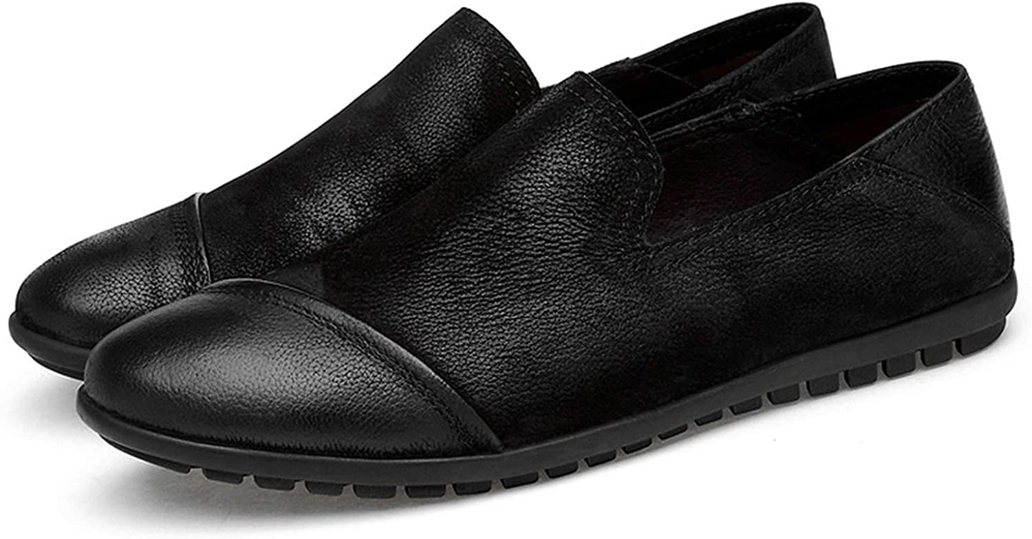 Genuine Leather Men Flats shoes Handmade Loafers Casual shoes
