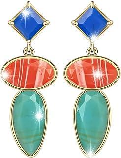 European And American Style Fashionista Catwalk Earrings Creative Design Earrings (Blue)