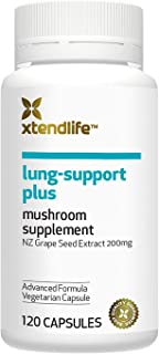 Xtend-Life Lung-Support Plus Organic Supplement - Blend of 4 Medicinal Mushrooms & Grape Seed Extract for Natural Lung Cle...