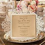 Best Wedding Invitations - WISHMADE Square Laser Cut Wedding Invitations Cards 20 Review