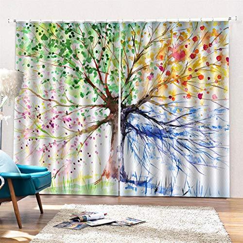 cortinas habitacion impresion digital