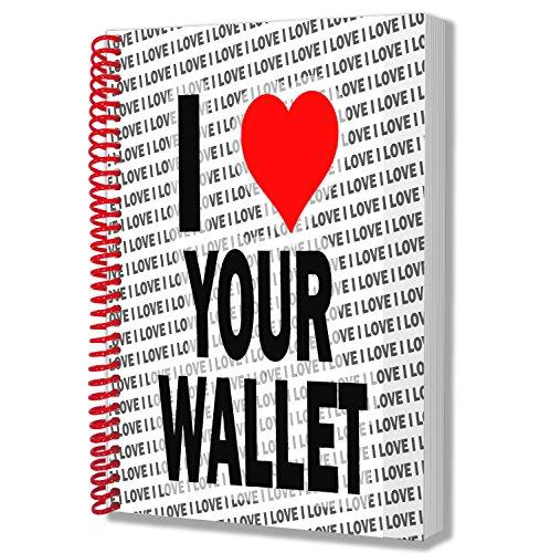 Ik hou van je portemonnee - A5 Notebook - Kladblok - Verjaardag - Kerstmis - Gift