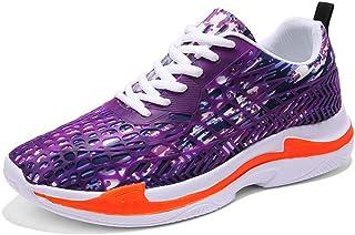 Williess Zapatillas Transpirables Zapatos de Mujer Camuflaje de Malla Zapatos Casuales de Hombres Zapatos de Hombres (Color : Púrpura, Size : 45)