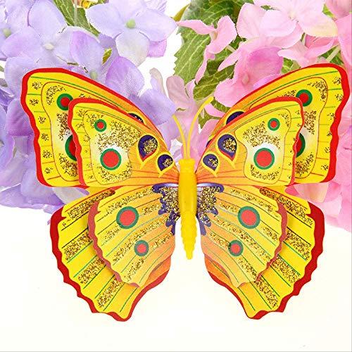 Losse Poeder Dubbele Laag 10 + 7.5Cm Simulatie Vlinder Multi kleuren Optionele Kleur is Prachtig