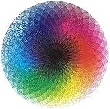 Bgraamiens Puzzle-1000 Pcs Round Gradient Color Rainbow Palette Jigsaw Puzzles Color Challenge Puzzle for Adults and Kids