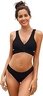 Women's Criss Cross Bikini Push-up Halter Bandage Swimsuits Wrap Suits