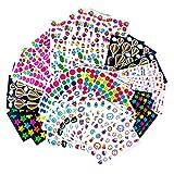 MOKIU 80 Feuilles Gommettes Enfant Autocollants Stickers Colorés pour Scrapbooking, Loisirs Creatifs, Materiel Activites Manuelles, Album DIY
