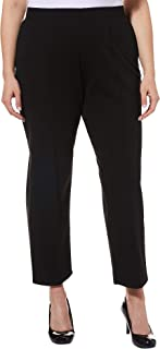 2ad2844b951 Cathy Daniels Plus Pull-On Stitched Crease Stretch Pants
