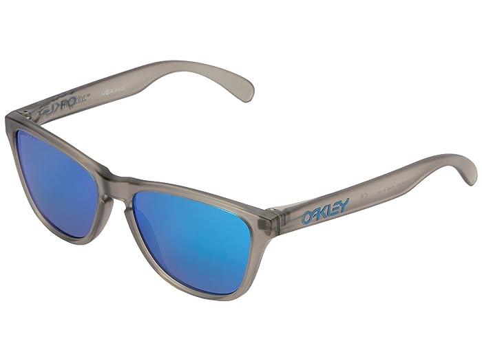 Oakley Frogskin XS (Youth) (Matte Grey Ink w/ Prizm Sapphire) Sport Sunglasses