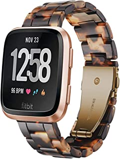 Junboer Resin Watch Band Compatible Fitbit Versa/Versa 2/Versa Lite Band Fashion Resin Wristbands Replacement Bracelet Str...