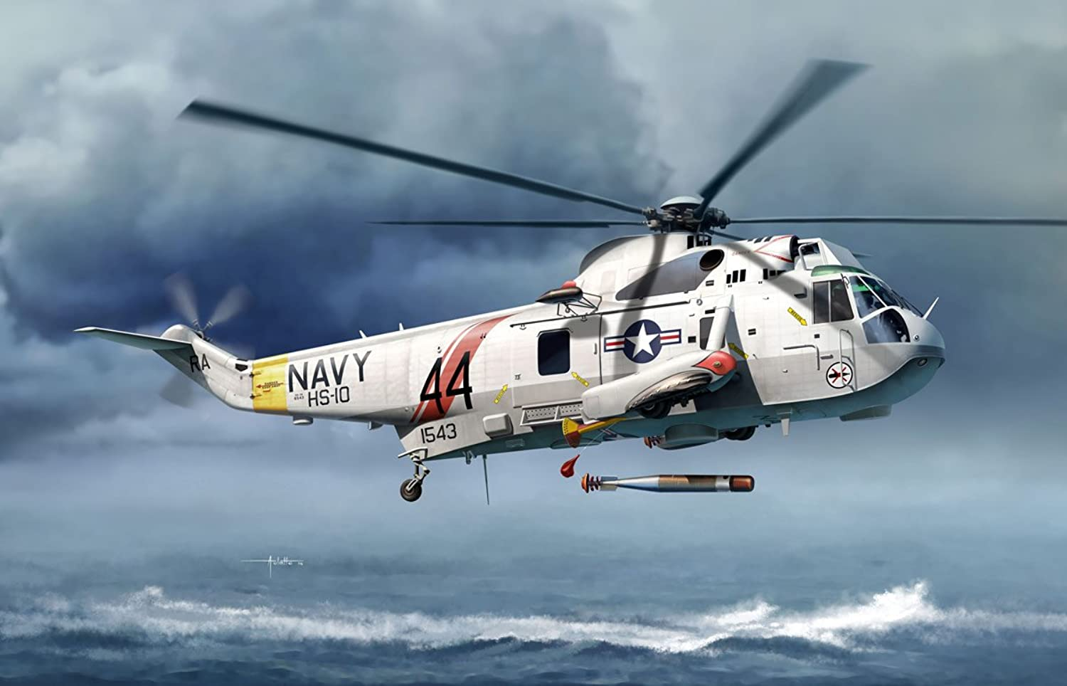 CH5114 1 72 US Navy antisubmarine helicopters Sea King SH3H