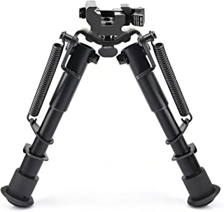 CVLIFE 6-9 Inches Rifle Bipod,Tactical Bipod with Quick Release Picatinny Adapter