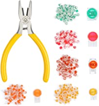 BUYGOO 250 Pcs Data Phone Wire Butt Splice 2/3/T Ports UY/UY2/UR/UR2/UG Crimp Terminal Connectors Assortment Kit - with Connector Crimping Pliers
