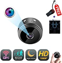 WiFi Mini Camera | GEAGLE 1080P HD WiFi Mini Hidden Spy Camera | External Memory | Motion Detection | Night Vision | Live Video | P2P/ WiFi