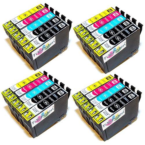 20x Epson Workforce WF 2540 WF kompatible XL Druckerpatronen - 8xSchwarz-4xCyan-4xMagenta-4xGelb - Patrone MIT CHIP !!!