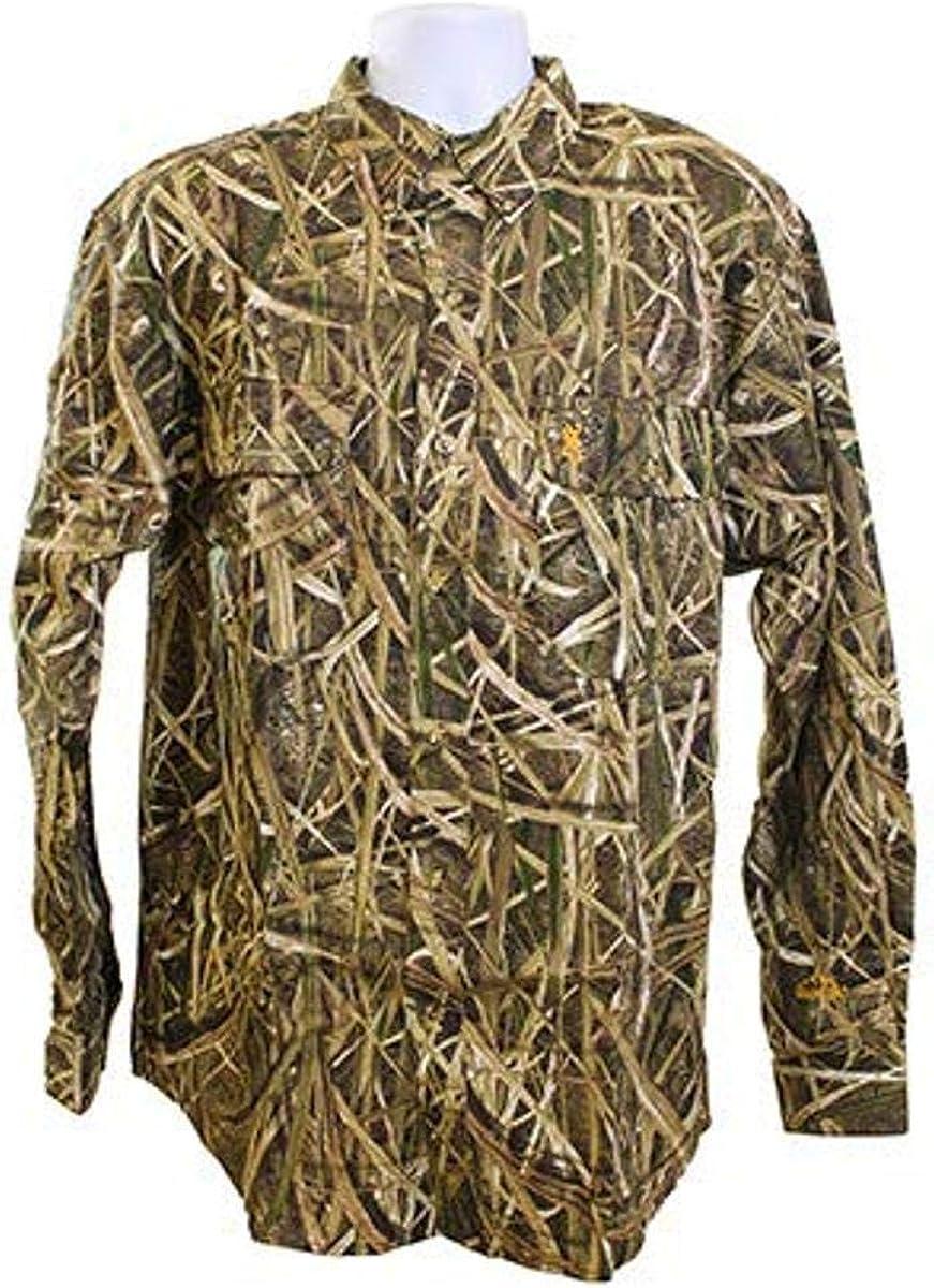 Browning 3017802504 Wasatch-CB Long Sleeve Shirt, Mossy Oak Shadow Grass Blades, X-Large