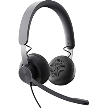 Amazon Com Logitech Zone Wired Noise Cancelling Headset Certified For Microsoft Teams With Advanced Noise Canceling Mic Technology For Open Office Environments Usb C With Usb A Adapter Graphite Computers Accessories