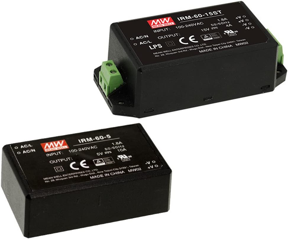 Mean Well Original IRM-60-12ST Miniature Encapsulated Type Green Open Frame Power Supplies 12V 5A