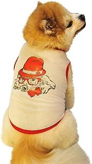 Ropa Para Mascotas,Camisa De Malla Con Estampado Fino Para Mascotas,Ropa Para Perros,Chaleco Transpirable De Encaje Para Gatos Camisetas Sin Mangas Para Perros Disfraces De Festival Para Mascotas