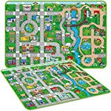 Marko Giant Kids City Playmat Fun Town Cars Play Road Carpet Rug EVA Foam Toy Mat (Mega)