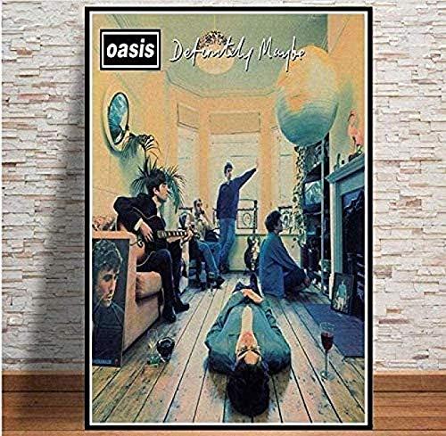 BYBLNJN Oasis Rockmusik Band Star Jigsaws Puzzle 1000 Stück hölzernes Lernspiel Stressabbau für Erwachsene Kinder