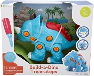 KidSource Build-A-Dino - Build and Take Apart Dinosaur Toy - Construction Play Set with Screwdriver Tool - Promotes Early ...