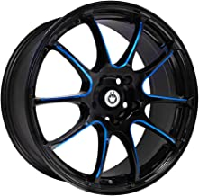 Konig 24B Illusion 18x8 5x114.3 +45mm Black/Blue Wheel Rim