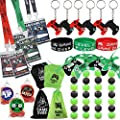 51 Pack Video Game Party Favors Set, Gaming VIP Pass Holder Ticket Candy Tubes Keychain Bracelet Gamer Party Bag for Game Themed Birthday Party Baby Shower Supplies from foci cozi
