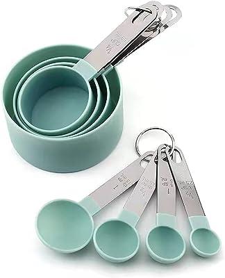不锈钢量杯量勺套装 (绿色)