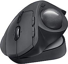 Logitech MX ERGO Plus Wireless Trackball Mouse, 2048 dpi Optical Sensor, 8 Buttons, 4-Way Scroll Wheel, 910-005178 (Renewed)