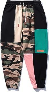 Aelfric Eden Hip hop Streetwear Pants Camo Patchwork Cotton Pant for Mens Womens