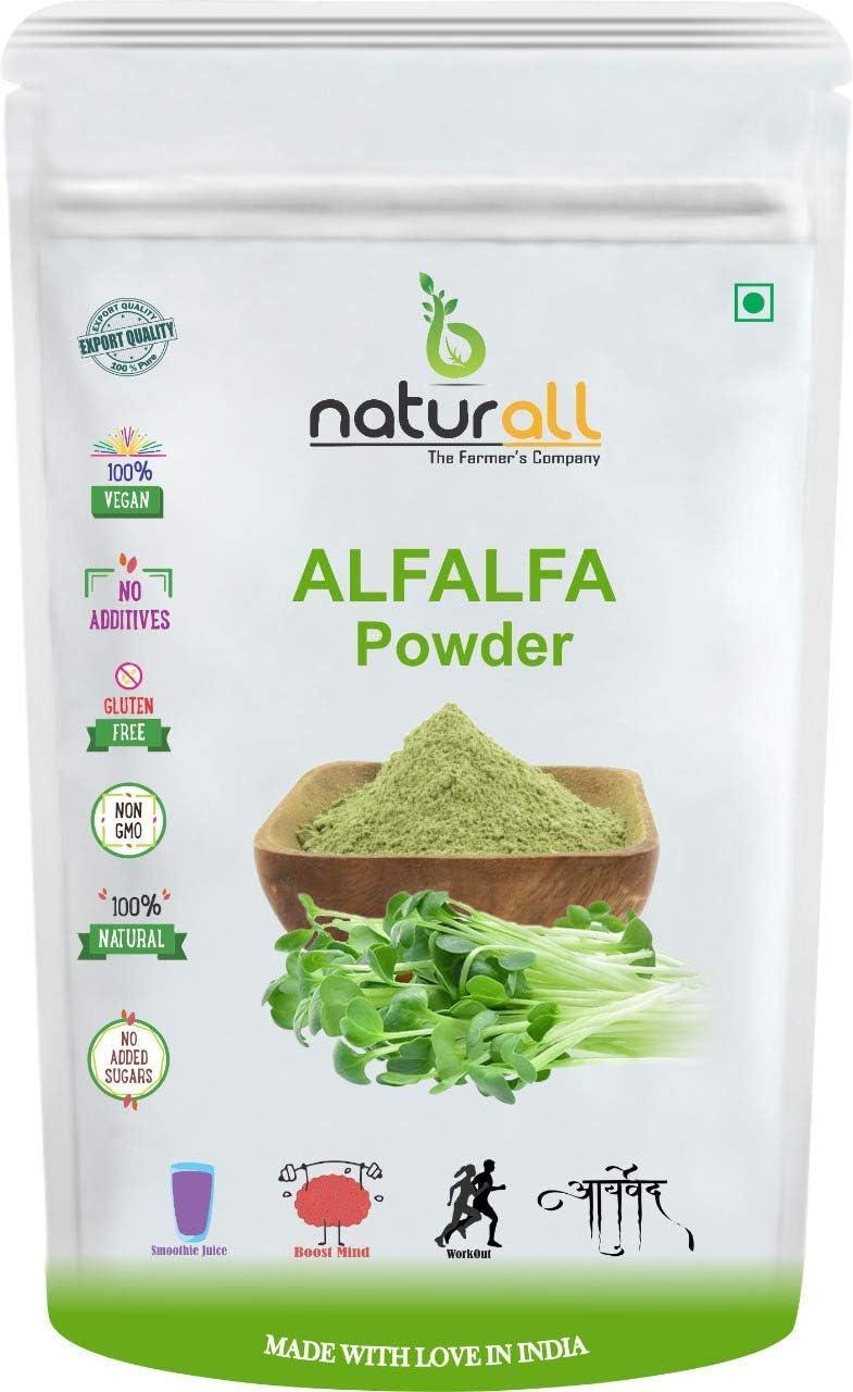 Anjani B Naturall Alfalfa Grass Powder Regular store - 500 SEAL limited product GM 1 2 by KG = X